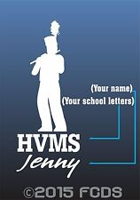 Marching Band Flute Music Personalized Decal for Cars, Windows & Lockers