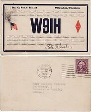 QSL card Milwaukee Wisconsin USA 1935 Scheda Radio Radio w9ih (80634