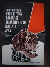 original PRESSBOOK..'' The Human Duplicators  ! ''