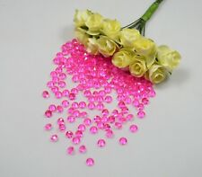 Hot Pink - Acrylic Diamond Scatter Crystals - Wedding Decoration Table Crystal