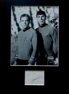 Star Trek William Shatner Leonard Nimoy signed autograph PHOTO DISPLAY Spock