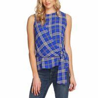 VINCE CAMUTO NEW Women's Plaid Faux Wrap Blouse Shirt Top TEDO