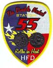 Houston Fire Department Station 55 Patch Texas TX v3