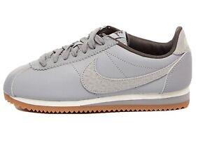 Rare NIKE Women Classic Cortez Leather Lux Trainer Casual Shoe UK5 US 7.5 Eur 48