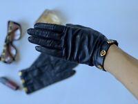 Auth. CHANEL Dark Blue Gloves. Size: 7