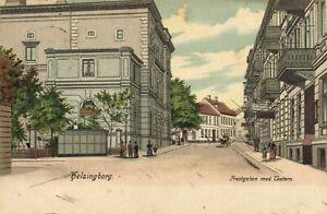 PC SWEDEN, HELSINGBORG, PRESTGATAN MED TEATERN, Vintage Postcard (b25535)