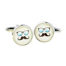 Blue Sunglasses and Moustache Cufflinks in a Cufflink Box - X2BOC347