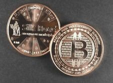 "1 Oz Pure Copper - "" Bit- Coin - Silk Road "" - 2Nd In Series - Anonymous Mint"