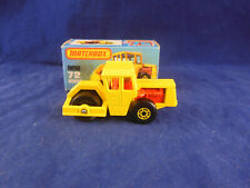 Matchbox Superfast MB 72 c Bomag Road Roller in Yellow