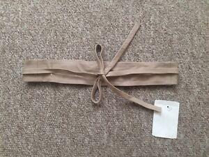 new hallhuber light pinkish beige leather wrap belt one size £49 half price