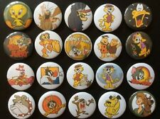 Looney Tunes & Hanna Barbera Button Badges x 20. Pins. Wholesale. Collector :0)