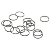 100x Split Key Rings 15mm Stainless Steel Keyring Hoop Loop Ring Findings