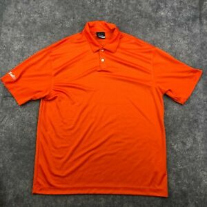 Nike Polo Shirt Mens Large Orange Short Sleeve Golf Dri Fit Collared Fedex *
