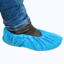 50 Stück OP-Überschuhe Schuhüberzieher blau CPE 35µu Einweg