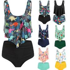 414f7385b41 Women Bikini Set Swimsuit High Waist Dinosaur Print Bathing Beach Swimwear  DZ