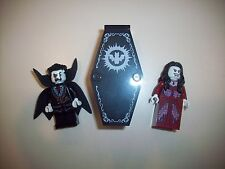 LEGO Minifigure Monster Fighters Lord Vampyre & Bride of Vampyre With Coffin
