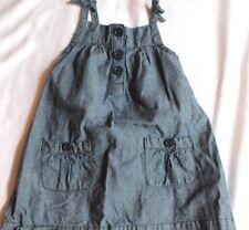 Baby Gap Girl's Denim Jumper Dress Size 6-12 Months