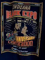 Vintage Indiana Black Expo T Shirt African American 2005 Promo Tee Fest 2XLarge