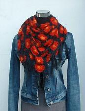 ♥ Blüten Häkel Stola ♥ NEPAL Schal Dreieckstuch Netz Baumwolle Hippie Gothic