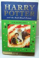Harry Potter and the Half-Blood prince bloomsbury softback book. J.K Rowling.