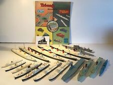HUGE TRIANG MINIC SHIPS ATTIC FIND JOB LOT 29+ VINTAGE SHIPS/ACCESSORIES/PAPERS
