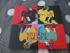 "CD DIGIPACK MAXI 4 TITRES ""FUCK THEM ALL / REMIXES"" Mylene FARMER"