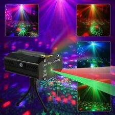 Laserprojektor Bühnenbeleuchtung Muster Sound aktiviert LED RG Light Party Disco