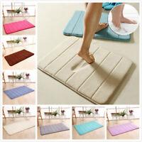 Velvet Bath Rug Memory Foam Bathroom Mats Shower Mat Non-slip Carpet Pad