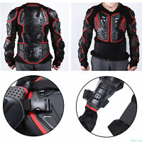 Full Body Armour Motorcycle Motorcross Gear Protector Jacket  Back Chest Guard