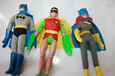 RETRO BATMAN , ROBIN & R.C BATGIRL 8 INCH FIGURES POLYBAGGED LOOSE NEW