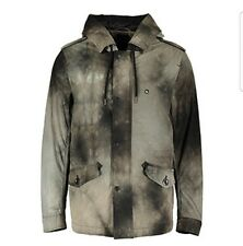NEW DIESEL MEN'S GREY FADED PRINT WATERPROOF COAT SIZE M UK  RRP £340