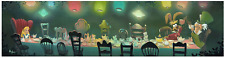 Disney Fine Art Limited Edition Canvas A Mad Tea Party-Alice In Wonderland-Kaz