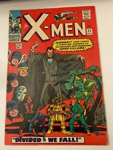 "X-Men #22 July '66"" ""Divided We Fall! "" Count Nefaria "" VG"