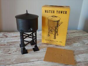 Marx Plastic Water Tower 065 BLACK w/ Original Box & top Insert NOS