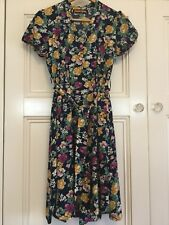 Princess Highway Ladies Size 8 Floral Dress 1940s Inspired Retro Vintage Look