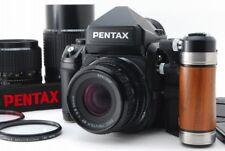 【ALL MINT】 Pentax 67II Medium Format SLR + 55mm 90mm 200mm 3Lens grip from Japan