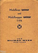 VEB Weimar Werk Mobilkran Mobilbagger Weimar T 174 Technische Beschreibung 1964