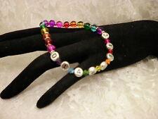 Bead Bracelet/Jewelry All Sizes Handmade Rainbow Diabetic Awareness Alert