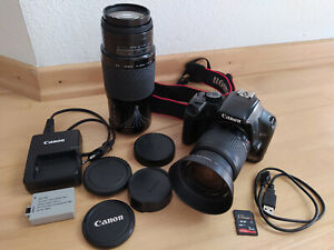 Canon EOS 450D 12.2MP Spiegelreflexkamera 75-300 + 28-80mm Objektiv 24100 Ausl.