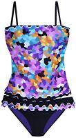 New Profile by Gottex 2 PC 4 6 Tankini Bikini Swimsuit Pixel Bandeau $126