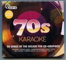 70s Karaoke - 3 CD-G Set with 60 songs - Brand New and Still Sealed - Crimson