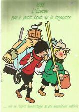 Hergé-Tintin-Calendrier de la Fédération des Scouts Catholiques-1988