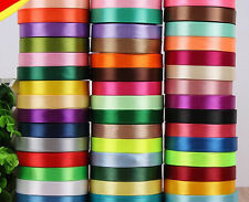 25 Yards DIY Satin Ribbon Wedding Party Decoration Craft Sewing Many Colors Pick