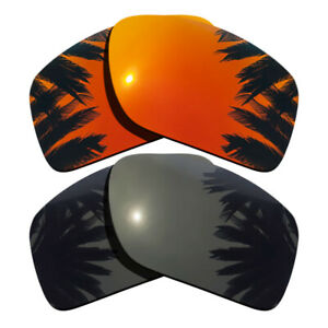 Black&Orange Red Replacement Lenses for-Oakley Double Edge OO9380 Polarized