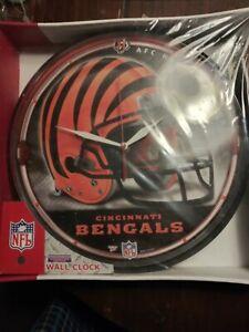 "Cincinnati Bengals 12"" Round Wall Clock"