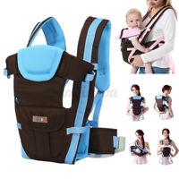 Infant Newborn Baby Carrier Adjustable Breathable Wrap Sling Toddler Backpack US