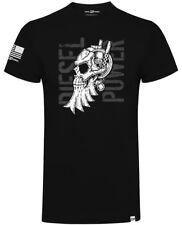 Diesel Power Gear Stacked Skull Logo Official Diesel Sellerz Black Mens T-Shirt