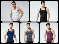 MEN BODY SHAPER SLIMMING VEST/SHIRT FOR ZERO BODYS White/Black Colour