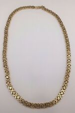 Heavy solid Yellow Gold 9ct 375 flat Byzantine chain - Fully Hallmarked