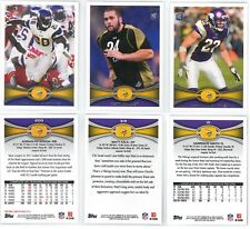 Vikings Football Cards - 2012 Topps (Peterson #200 Kalil RC #319 Smith RC #15)